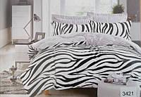 Сатиновое постельное белье евро ELWAY 3421