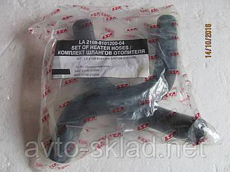Патрубки печки ВАЗ 2108, 2109, 21099 салон к-т 2шт LSA (шланги отопителя)