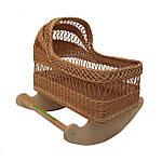 Плетеная люлька, колыбель из лозы для ребёнка Арт.524