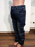 Детские джинсы зима на флисе оптом