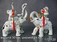 "Комплект фигурок декоративных ""Слон"" 2 предмета 30 см ed170-129"