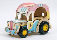 Конструктор Вуди (Woody)деревянный Фургон Крем-Брюле