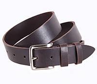 Мужской кожаный ремень под джинсы коричневый 3,5 см от Итальянского бренда