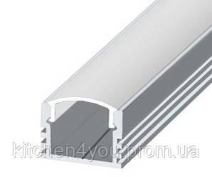 ЛП 12 алюминиевый профиль для светодиодной ленты, накладной 12 х 16 мм.