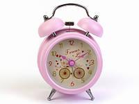Будильник для девочки розовый Велосипед