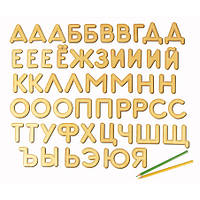 Конструктор Вуди (Woody) деревянный Буквы на магнитах