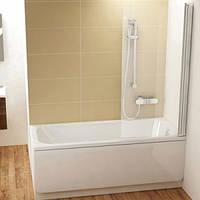 Шторка для ванны Ravak 80 см CVS1-80 L белый+transparent 7QL40100Z1