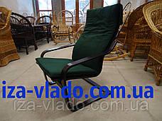 Плетеная мебель из лозы. Кресло-лягушка (пружина), фото 3