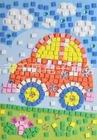 Мягкая мозаика наклейки без ножниц и клея - Машина