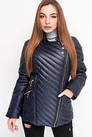 Осенняя женская куртка на синтепоне, синяя (6цветов)