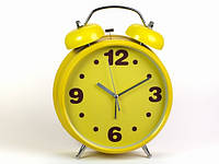 Большой будильник желтый