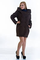 Пальто женское Футляр, больших размеров  (5 цветов)