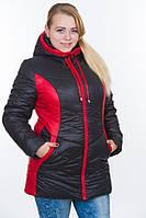 Тёплая женская куртка 48-64,(6 цветов)