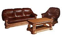 """Классический комплект мебели в коже """"Гризли"""" (3+1)"""