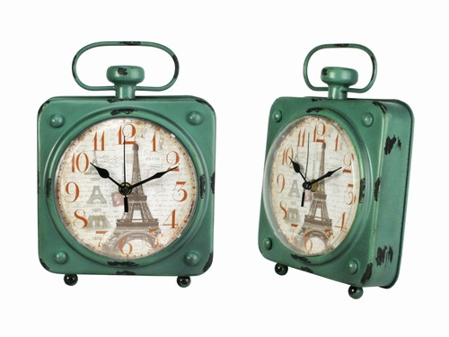 Металлические часы в стиле ретро Париж
