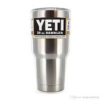 Термокружка, дорожная чашка YETI Rambler Tumbler 30 OZ Сталь, Бирюза, Темно-синяя