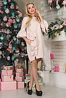 Нарядное платье Варьете с рюшами из костюмки 44-52 размеры