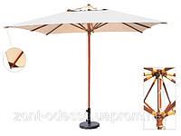 Деревянный зонт ВЕНА, 4х4м, для кафе, ресторана, отелей