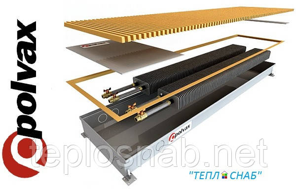 Внутрипольный конвектор естественной конвекции Polvax KEM 300.1750.78 два теплообменника