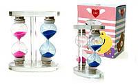 Часы песочные двойные стекло 9.5x7 см.