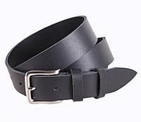 Мужской кожаный джинсовый ремень черный 3,5 см от Итальянского бренда