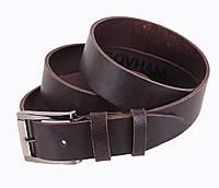 Мужской кожаный ремень джинсовый коричневый 3,5 см от Итальянского бренда