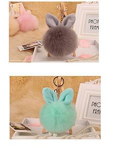 Брелок для ключей и сумок круглый с ушками в 3 цветах