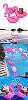 Подстаканик надувной для бассейна в форме розового фламинго