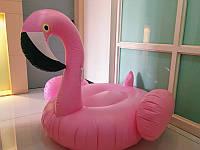 Фламинго надувной для бассейна большой розовый
