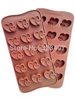 Формочки для конфет силиконовые сердца