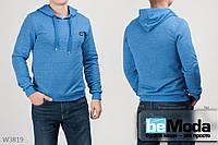 Оригинальный мужской батник GIOVEDI Blue из качественного теплого материала без лишних декоративных элементов синий