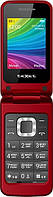 Мобильный телефон-раскладушка TEXET TM-204 (красный)