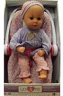 Интерактивная кукла-пупс в комплекте с переноской You & Me 16 inch Kicking Baby Doll in Carrier - Lavendar Top