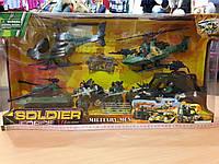 Набор военный с танком и вертолетами