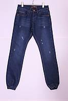 """Утепленные мужские джинсы на манжетах с потертостями """"Red Man"""" Турция (код 4301)28-34р."""