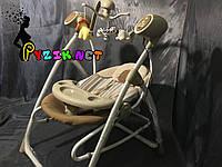 Колыбель-качели 3 в 1 (качель-шезлонг-стульчик для кормления) Carrello коричневый , фото 1
