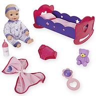 Большой пупс в комплекте с кроваткой и аксессуарами You & Me 14 Inch Baby & Rocking Cradle, фото 1