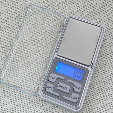Ювелирные весы электронные MH-500. Карманные весы 0,1-500г, фото 2