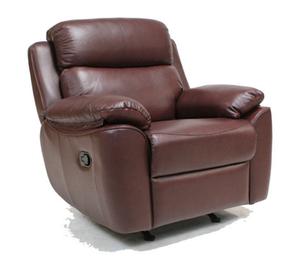 Кожаное кресло реклайнер с вращением ALABAMA BIS, фото 2