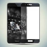 Закаленное защитное 3D стекло (на весь экран) для Huawei Honor 8 (Черное)