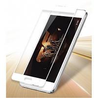 Закаленное защитное 3D стекло (на весь экран) для Meizu MX6 (Белое)