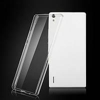 Силиконовый чехол 0,33 мм для Huawei Ascend P7 серый
