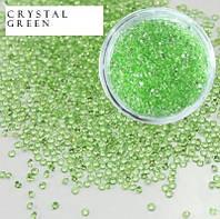 Хрустальная крошка Crystal pixie (аналог) Green 100 шт.