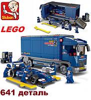 """Конструктор Lego совместимый Sluban """"Формула 1"""" Автогонки. 641 деталь"""