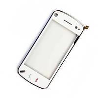 Сенсор (Touch screen) Nokia N97 mini белый оригинал + рамка