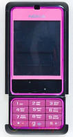 Корпус ААА Nokia 3250 (розовый)+русская клавиатура