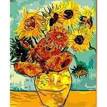 Картина по цифрам Подсолнухи Ван Гог