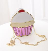 """Оригинальный клатч """"Пирожное"""" для стильных девушек. Хорошее качество. Модный дизайн. Яркая сумка. Код: КДН1230"""