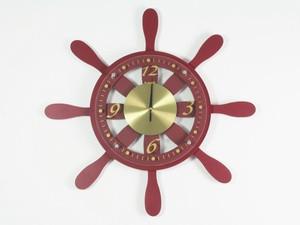 Морские часы на стену Штурвал