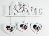 Красивые часы на стену белые Любовь